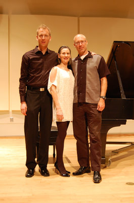 Hasse Borup and Mary Kathleen Ernst with composer Lansing McLoskey