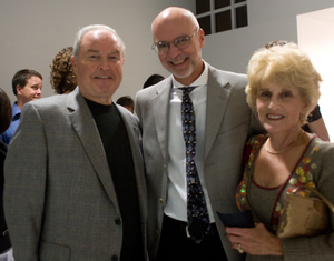 Stephen Miles with Roy and Jackie Woolf
